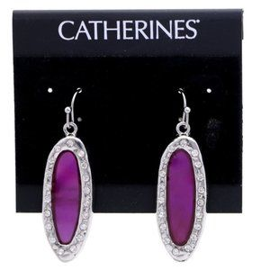 3/$20 Catherines purple and silver bling dangles